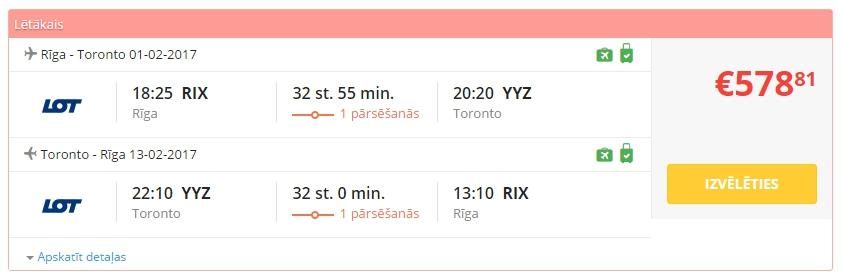Aviobiļetes uz Toronto